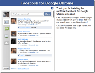 facebook google chrome