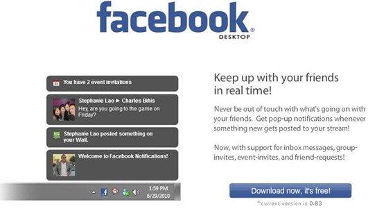 Ricevere le notifiche di Facebook sul desktop