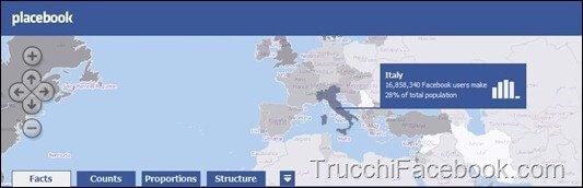 Le Statistiche di Facebook nel mondo