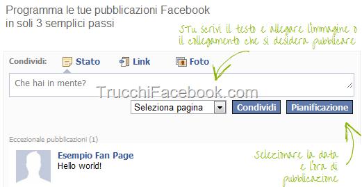 Come programmare la pubblicazione su Facebook