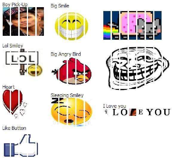 Disegni con immagini per la chat e messaggi su Facebook