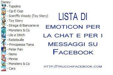Lista di nuove emoticon per la chat di Facebook