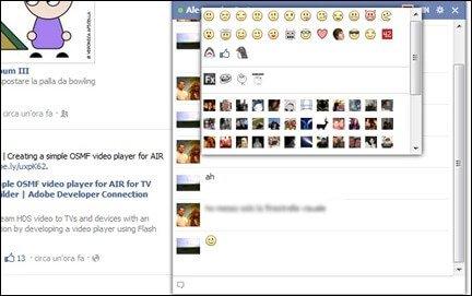Smile da usare in chat su facebook