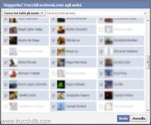 Seleziona tutti gli amici in un colpo solo su Facebook