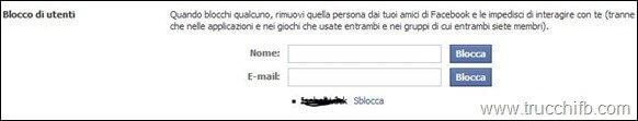 blocco di utenti