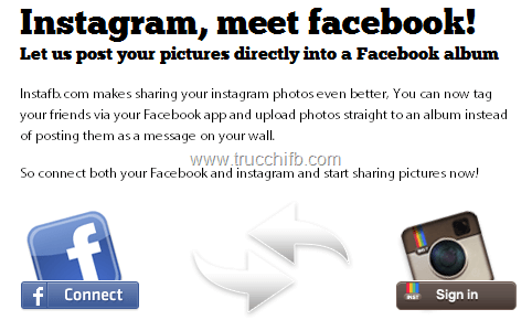 sincronizzazione instagram facebook
