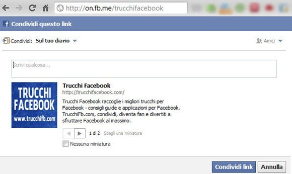 how to change fb url