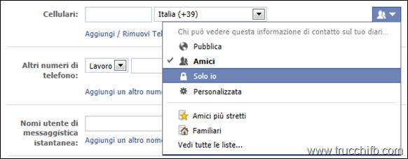 privacy informazioni personali