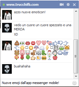 emoji ufficiali Facebook