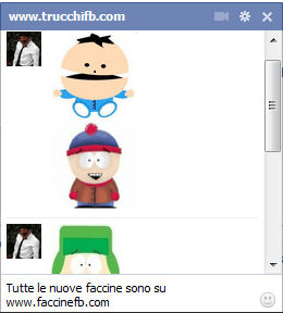 Lista di faccine per Facebook – South Park