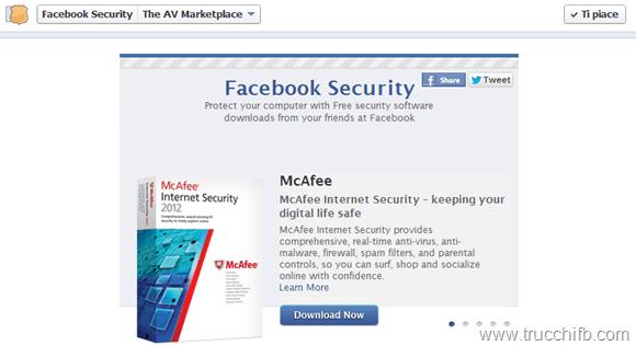antivirus gratuito su Facebook