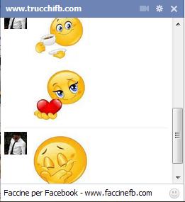 faccine ed emoticon grandi e giganti facebook