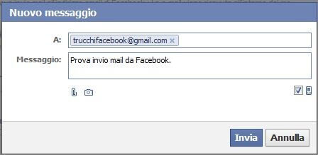 invio e-mail da Facebook