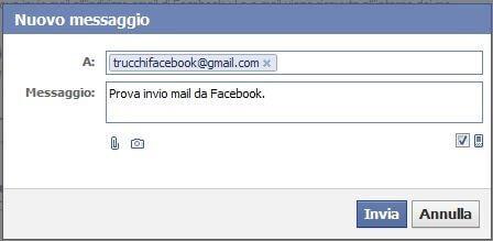 invio e-mail da Facebook