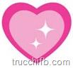 cuore rosa luccicante