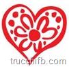 cuore rosso con fiore