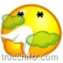 emoticon ammalata soffia naso
