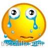 emoticon che piange, con lascime