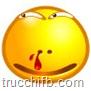 emoticon con sangue al naso