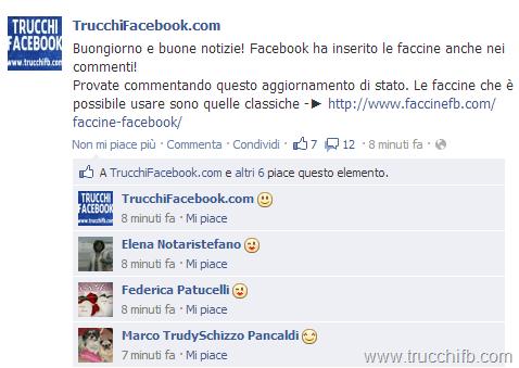 faccine emoticon commenti facebook