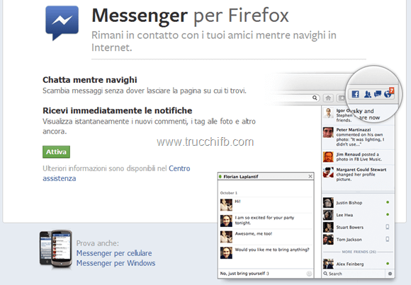 facebook messenger firefox