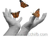 farfalle con mani