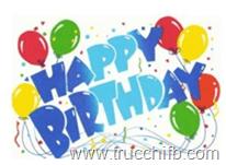 happy birthday con palloncini
