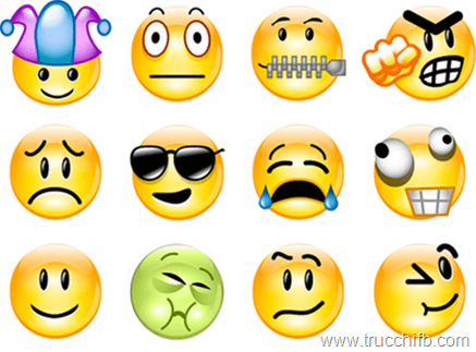 Nuove emoticons smiley e faccine per Facebook 2012 2013