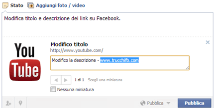 modifica anteprima link facebook