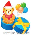 regalo con orsacchiotto di natale