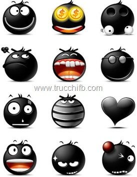 emoticon nere facebook