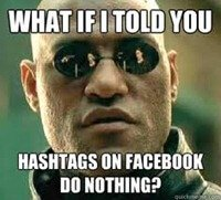 Hashtag on Facebook do nothing