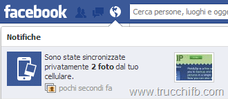 notifica foto sincronizzate