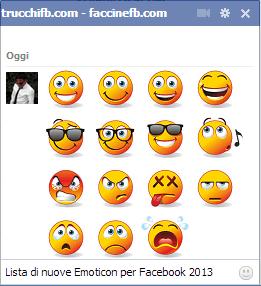 nuove emoticon Facebook 2013