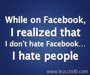 odio vero su facebook