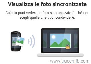 sincronizzazione foto facebook