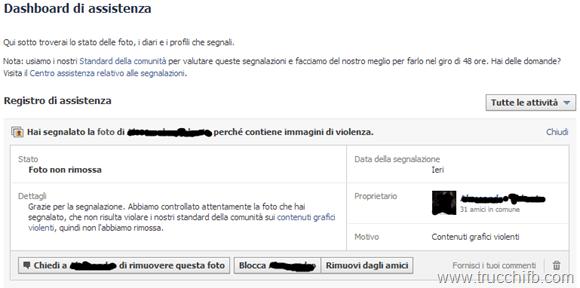 dashboard assistenza facebook