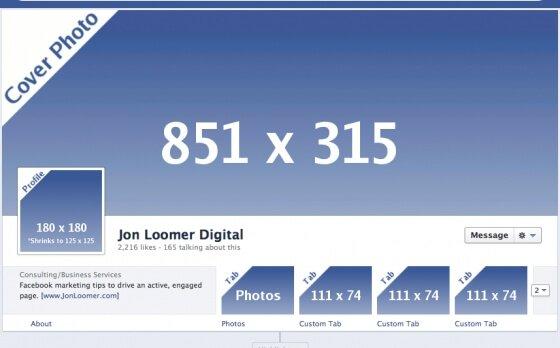 Quali sono le nuove dimensioni del diario su Facebook?