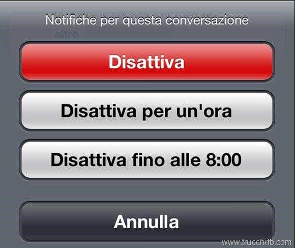 disattiva-notifiche conversazione