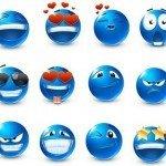 emoticon blu