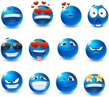 Lista di emoticon blu per Facebook