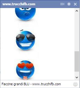 faccine facebook grandi blu