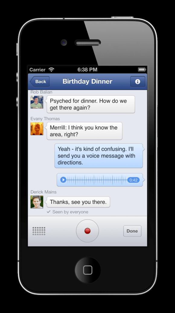 Come inviare messaggi audio con Facebook Messenger