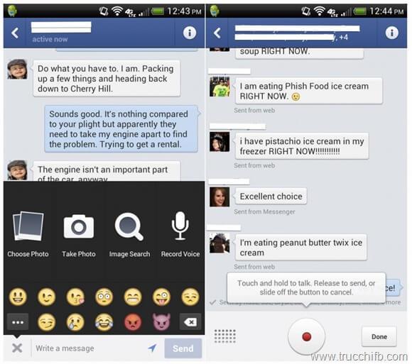 messaggio vocale messenger android