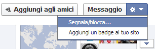 segnala utente facebook