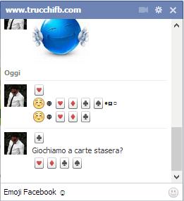 segni carte chat Facebook