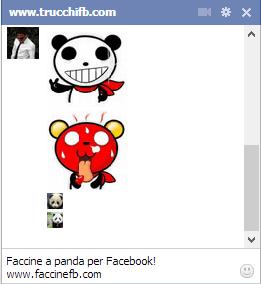 emoticon facebook panda