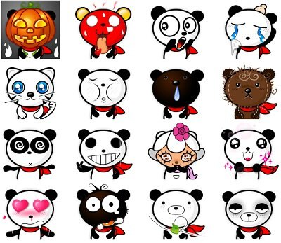 Lista di Faccine Facebook a Panda