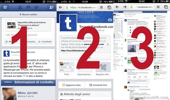 facebook app mobile sito