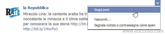 segui post facebook